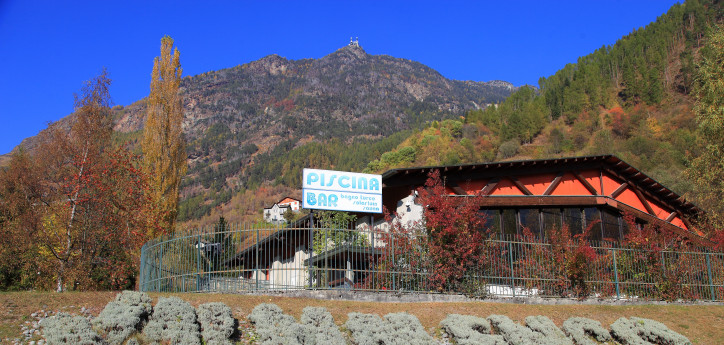 Swimming pool, sauna and Turkish bath in Valmalenco