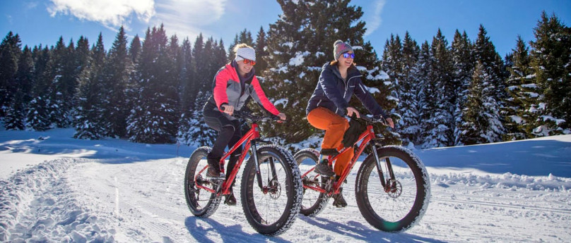Cycling on snow