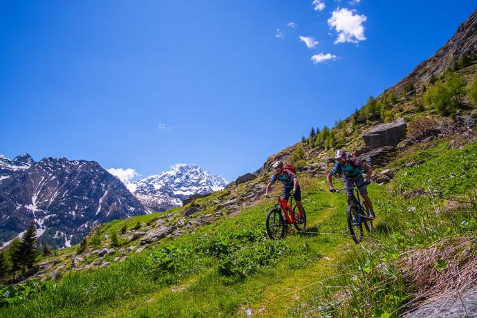 E-bike tour con visita in malga e vista sul Monte Disgrazia