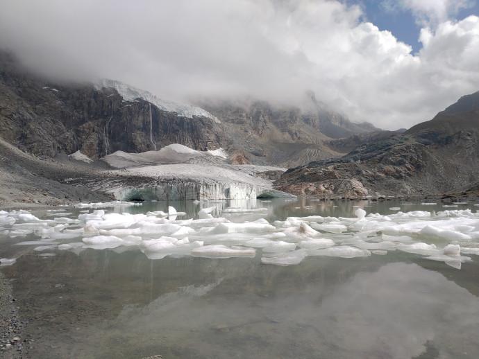Thawing glacier