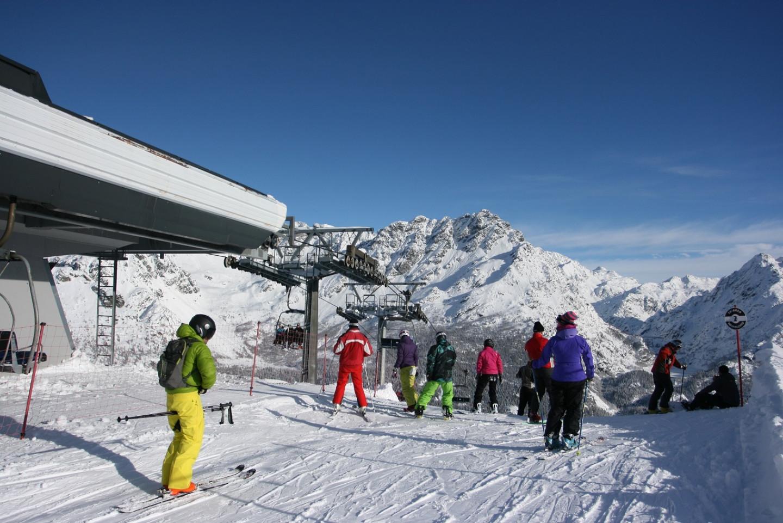 Partenza discesa pista nera Thoni - Alpe Motta