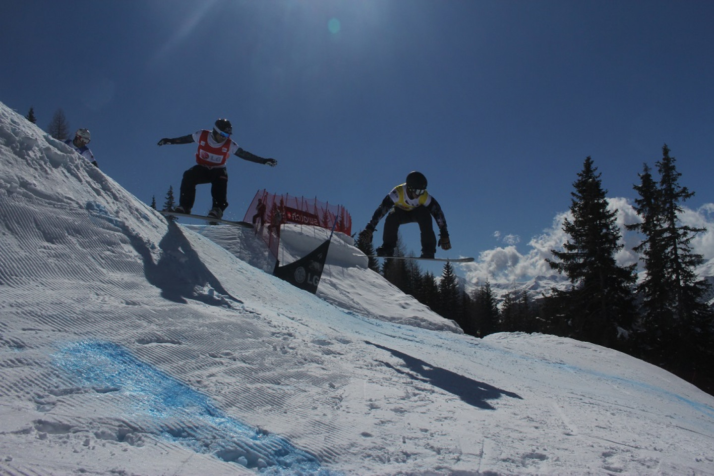 Snowboard World cup competition in Valmalenco