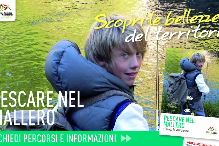 Torrente Mallero: la pesca nei pressi di Chiesa Valmalenco