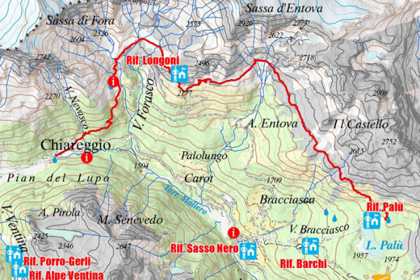 Cartina quarta tappa Alta Via