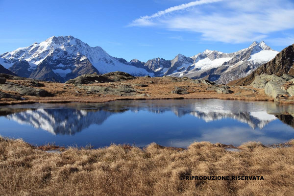 Laghetto nei pressi dei ciaz dell'Alpe Fora