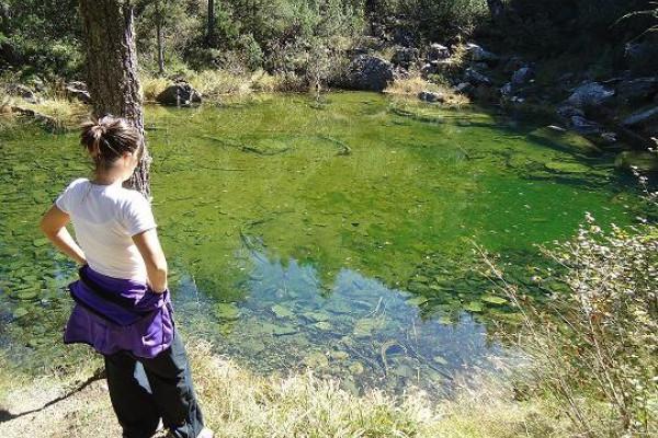 sulle sponde del laghetto verde del Pirlo